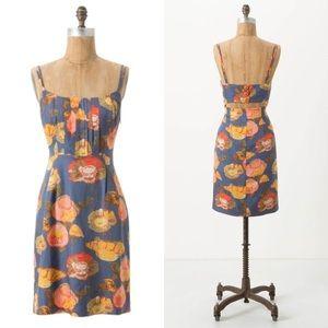 Maeve Peony Slip Dress Silk Blend